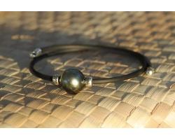 "Bracelet perle de Tahiti ""Surf"""