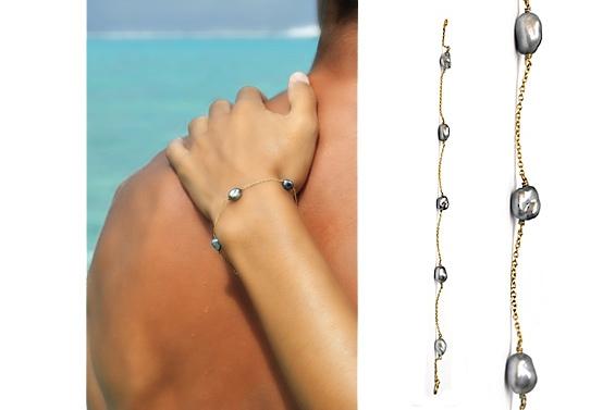 Bracelet with keshis