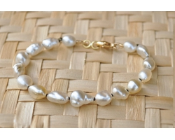 Bracelet de perles naturelles/Keshis