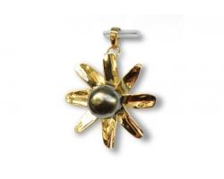 """Tiare"" Gold Pendant"