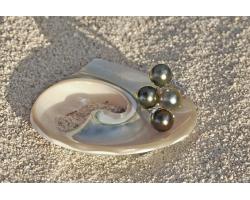 Bague 4 perles de Tahiti en argent