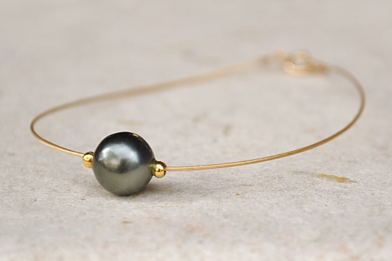 """Papeete"" Bracelet with Tahitian pearl"