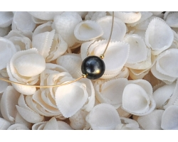 "Tahitian pearl necklace ""Papeete"""