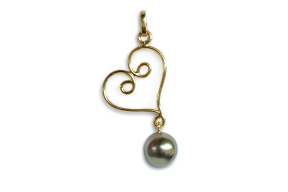 """Herehia"" Tahitian pearl pendant"