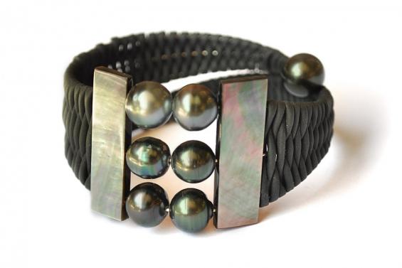 """Bracelet perles de Tahiti """"Joyce"""""""