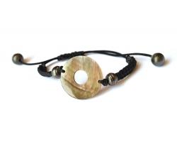 "Bracelet perles de Tahiti et nacre ""Nina"""