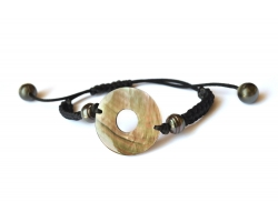 "Tahitian pearls and nacre on bracelet ""Nina"""