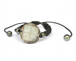 Bracelet nacre gravée