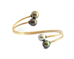 "Bracelet with 4 Tahitian pearls ""Rava Here"""