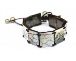 """Bracelet nacre gravée """"Poemiti"""""""