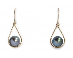 "Gold earrings with Tahitian pearls ""Lina"""