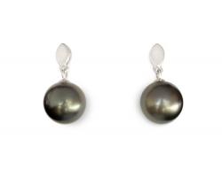 """Perles de Tahiti boucles d'oreilles """"Iriata"""""""
