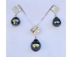 """Set perles de tahiti """"Hina"""""""