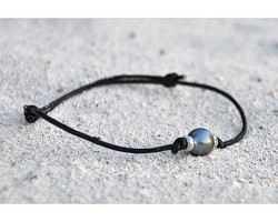 """""""Aviator"""" black pearl Bracelet"""
