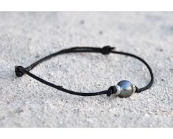 """Bracelet perle de Tahiti """"Aviator"""""""