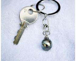 Porte clé et perle de tahiti