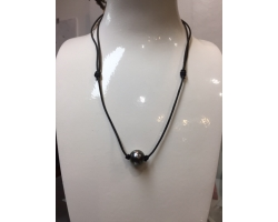 "Collier 1 Perle ""Aviator"""
