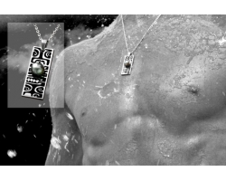 Pendantif Homme et perle de tahiti