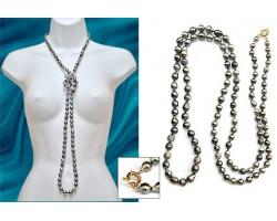 """Sautoir perles de Tahiti """"Elegancia"""""""