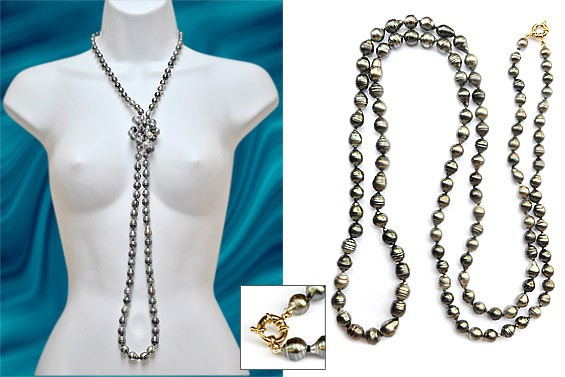 """Elegancia"" Tahitian pearl necklace"
