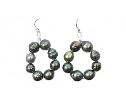 """Maiana"" earrings with Tahitian pearls"