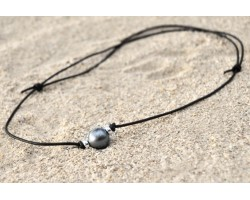 "Collier en cuir ""Aviator"""