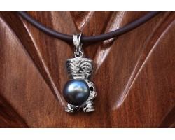 Silver Tiki pendant