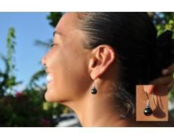 """Boucles perles de Tahiti, et argent """"Déesse"""""""