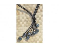 """""""Gauguin"""" black pearls Necklace"""
