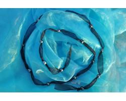 "Sautoir perles de Tahiti ""Coucher de soleil"""