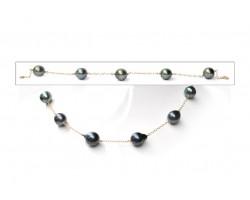 Collier + bracelet perles de Tahiti