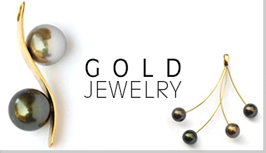 Our 18k gold creations with Tahitian pearls